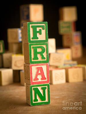 Fran - Alphabet Blocks Art Print