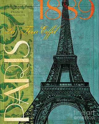 Map Painting - Francaise 1 by Debbie DeWitt