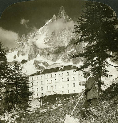 Chamonix Painting - France Alps, 1908 by Granger