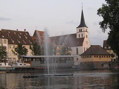 Ben Weinberg Photograph - France Alsace - Strasbourg On River 1 by Benjamin Weinberg