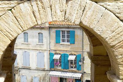 France, Arles, Roman Amphitheater Arch Art Print