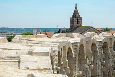 France, Arles, Roman Amphitheater Art Print