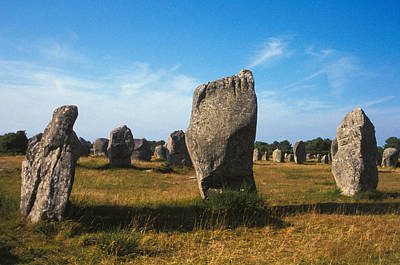 Megalith Photograph - France Brittany Carnac Ancient Megaliths  by Anonymous