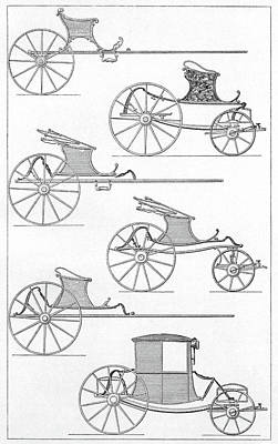 France Carriages, C1740 Art Print by Granger