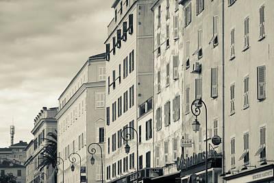 Sud Photograph - France, Corsica, Ajaccio, Buildings by Walter Bibikow