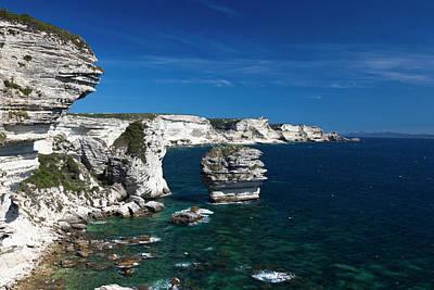 Sud Photograph - France, Corsica, Bonifacio, Elevated by Walter Bibikow