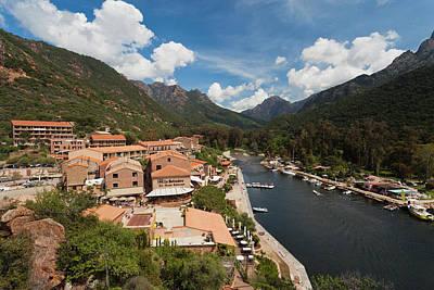 Sud Photograph - France, Corsica, Calanche, Porto by Walter Bibikow