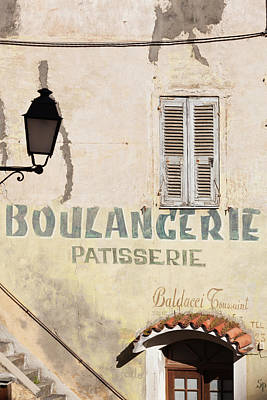 France, Corsica, Corte, Old Boulangerie Art Print by Walter Bibikow