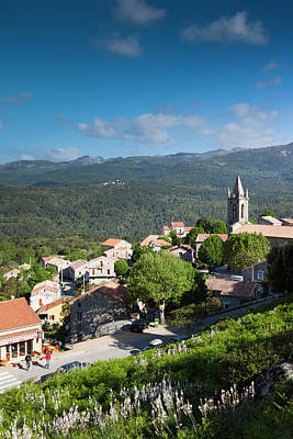 Sud Photograph - France, Corsica, La Alta Rocca, Zonza by Walter Bibikow