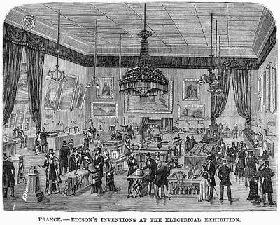 Edison Painting - France Exhibition, 1881 by Granger