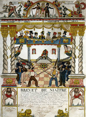 Fencing Painting - France Fencing, 1825 by Granger