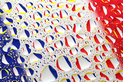 France Flag In Water Drops Art Print