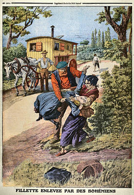 Drawing - France Gypsies, 1890s by Granger