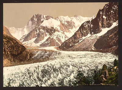 Grande Painting - France Mont Blanc Massif by Granger