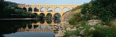 France, Nimes, Pont Du Gard Print by Panoramic Images