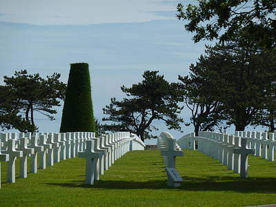 Ben Weinberg Photograph - France Normandy - Wwii Cemetary by Benjamin Weinberg