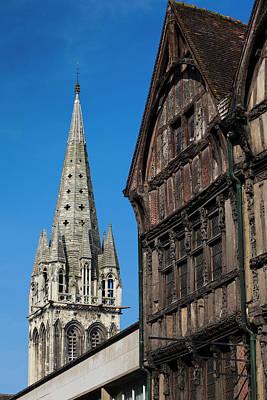 Caen Photograph - France, Normandy, Caen, Building by Walter Bibikow