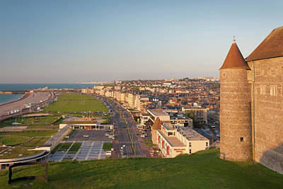 Chateau Photograph - France, Normandy, Dieppe, City View by Walter Bibikow