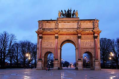 Arc De Triomphe Photograph - France, Paris Arc De Triomphe Du by Kymri Wilt