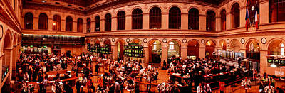 Broker Photograph - France, Paris, Bourse Stock Exchange by Panoramic Images