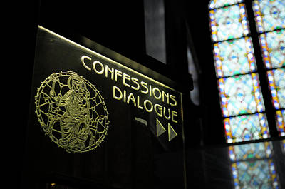 Confessions Photograph - France, Paris Confessions Dialogue by Kevin Oke