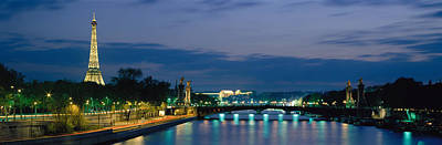 Scenic River Photograph - France, Paris, Eiffel Tower , Seine by Panoramic Images
