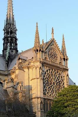 Ile De La Cite Photograph - France, Paris Facade Of Notre Dame by Kevin Oke