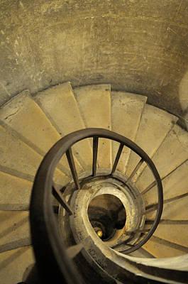 France, Paris Stairs And Handrail Art Print