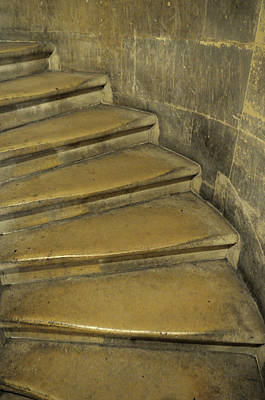 France, Paris Stairs Leading Art Print by Kevin Oke
