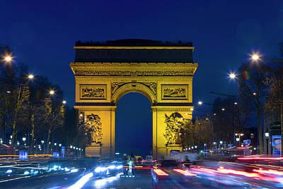 Arc De Triomphe Photograph - France, Paris The Arc De Triomphe by Jaynes Gallery