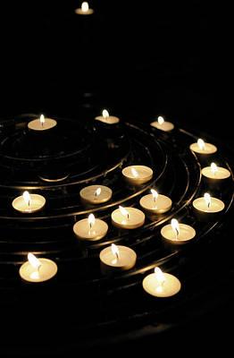 Ile De La Cite Photograph - France, Paris Votive Candles, Notre by Kevin Oke