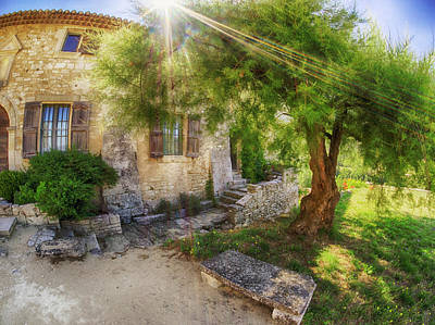 France, Provence, Sunrays Streaming Art Print