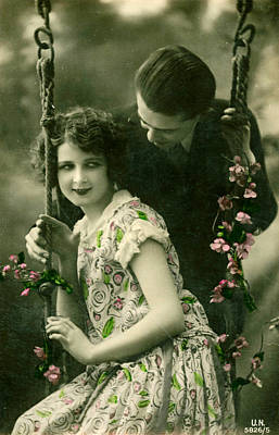 Postcards Drawing - France Romance Postcard by The Advertising Archives