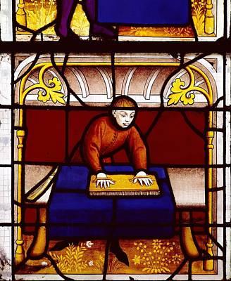Coloured Glass Photograph - France. Semur-en-auxois. Church by Everett
