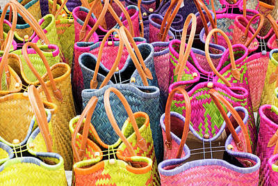 Outdoor Still Life Photograph - France, St Remy Baskets For Sale by Emily Wilson