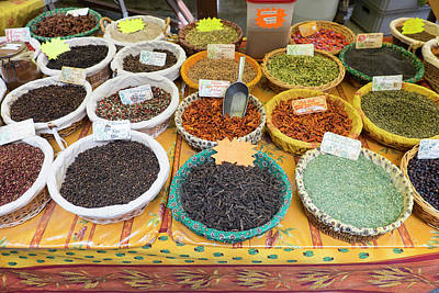 Outdoor Still Life Photograph - France, St Remy Spices For Sale by Emily Wilson