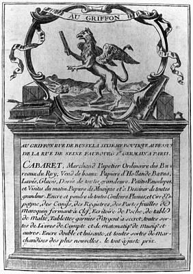 France Trade Card, 1780s Art Print