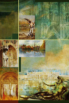 Chartre Painting - France Unesco World Heritage Poster by Catf