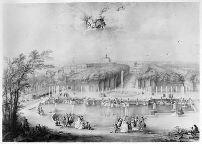 Basin Park Painting - France Versailles, 1745 by Granger