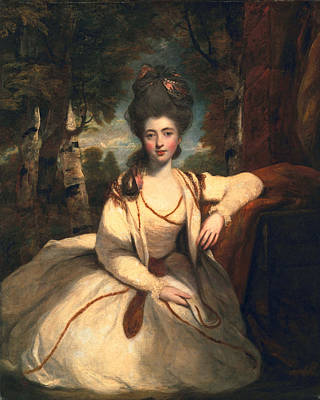 Gown Painting - Frances Molesworth, Later Marchioness by Sir Joshua Reynolds