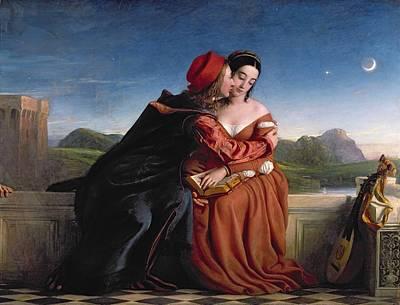 Francesca Da Rimini, Exh. 1837 Oil On Canvas Print by William Dyce