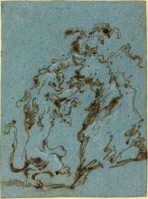 Francesco Guardi Drawing - Francesco Guardi Italian, 1712 - 1793, An Elegantly Dressed by Quint Lox
