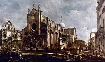 Evangelical Painting - Francesco Guardi Venice by Granger
