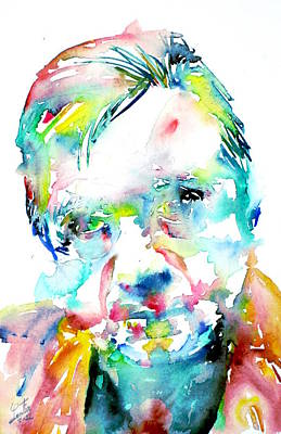 Francis Bacon Painting - Francis Bacon - Watercolor Portrait by Fabrizio Cassetta