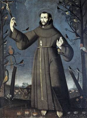 Francis Of Assisi, Saint 1182-1226 Print by Everett