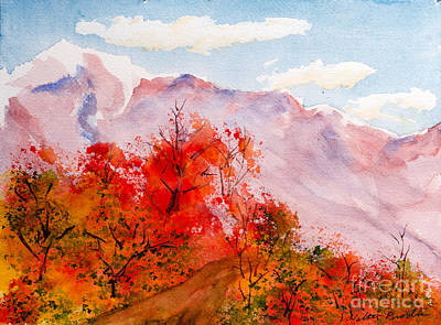 Painting - Francis Range Southern View by Walt Brodis