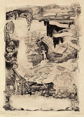 1850-1913 Drawing - Francis Scott King, Printers Devil, American by Quint Lox