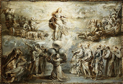 Franciscan Allegory In Honor Of The Immaculate Conception Art Print