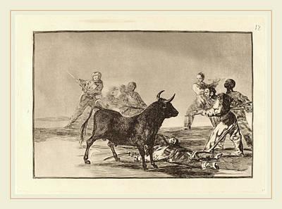 Francisco De Goya, Desjarrete De La Canalla Con Lanzas Art Print