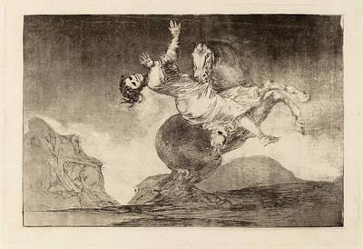 Raptor Drawing - Francisco De Goya, El Caballo Raptor The Horse-abductor by Quint Lox